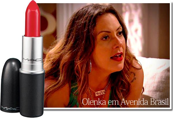 batom vermelho de Olenka em Avenida Brasil