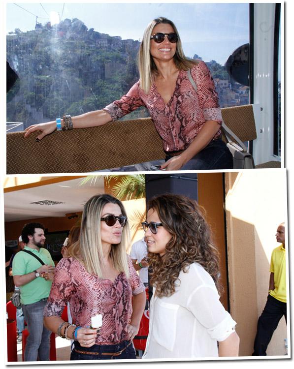23e061b2292d6 Os óculos de Flávia Alessandra no Morro do Alemão - Lalá Noleto