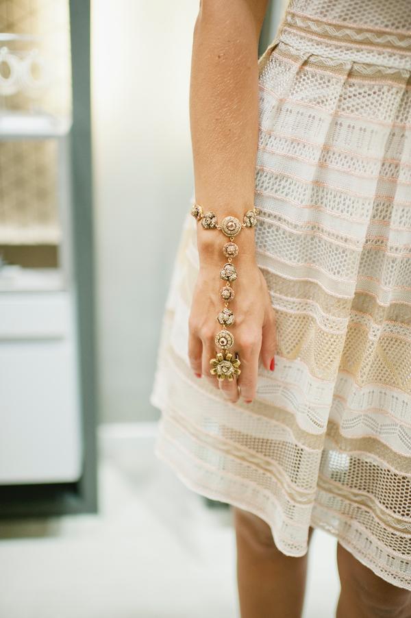 Hand T. Arrigoni Anne, banho de ouro e cristai swarovski
