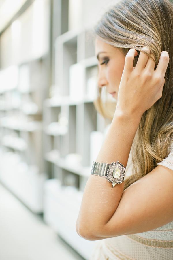 Bracelete Nadia Gimenes Jonquil estrela cistais swarovski no banho de ródio