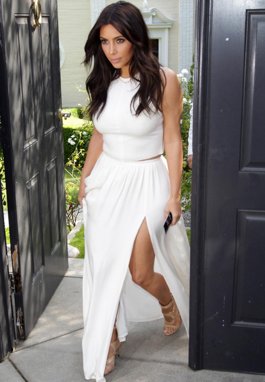 kim kardashian white