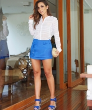 Look do dia – Short Alfaiataria + Camisa Branca
