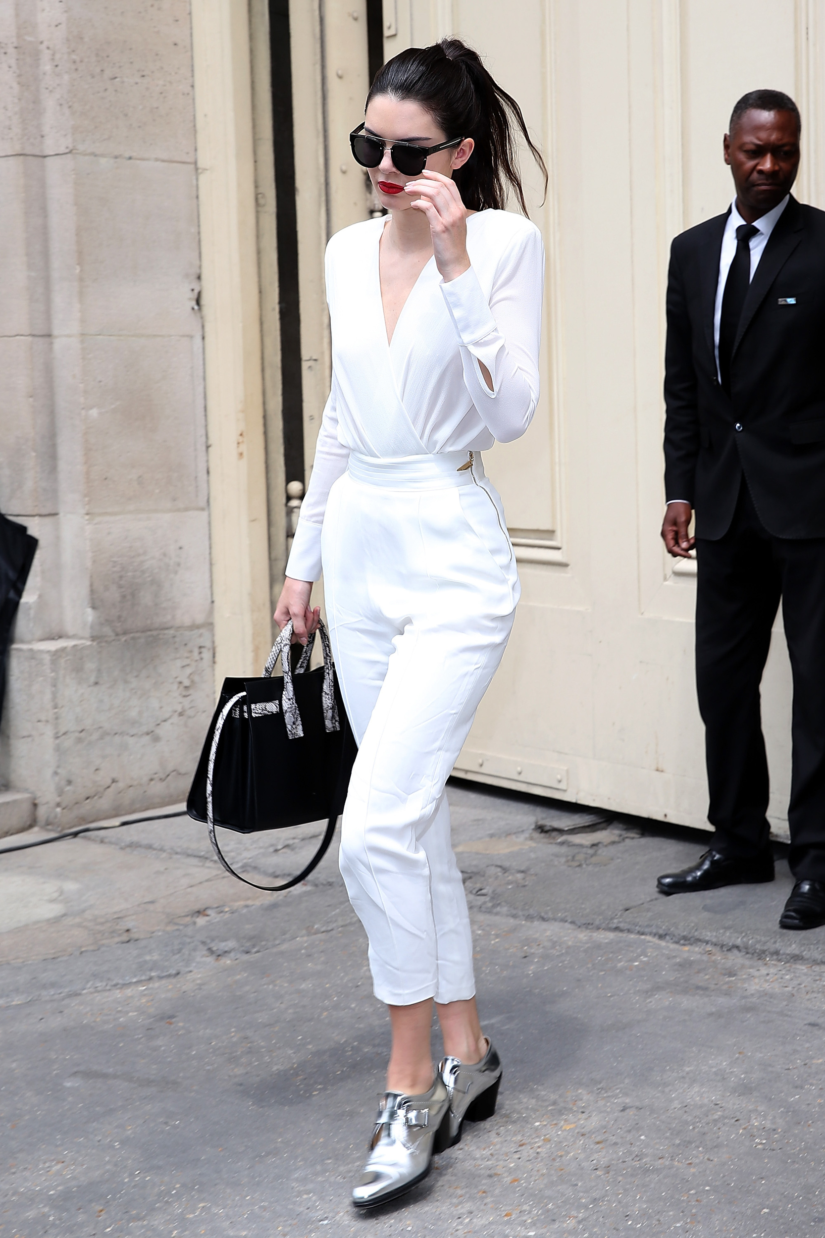 kendall jenner silver shoes