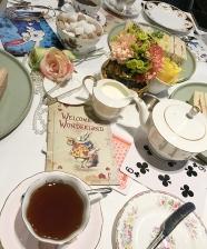 Chá da Alice do País das Maravilhas no Hotel Taj