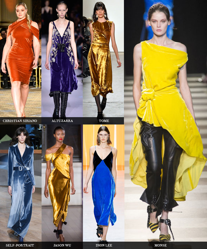 veludo semanas de moda fall 2017