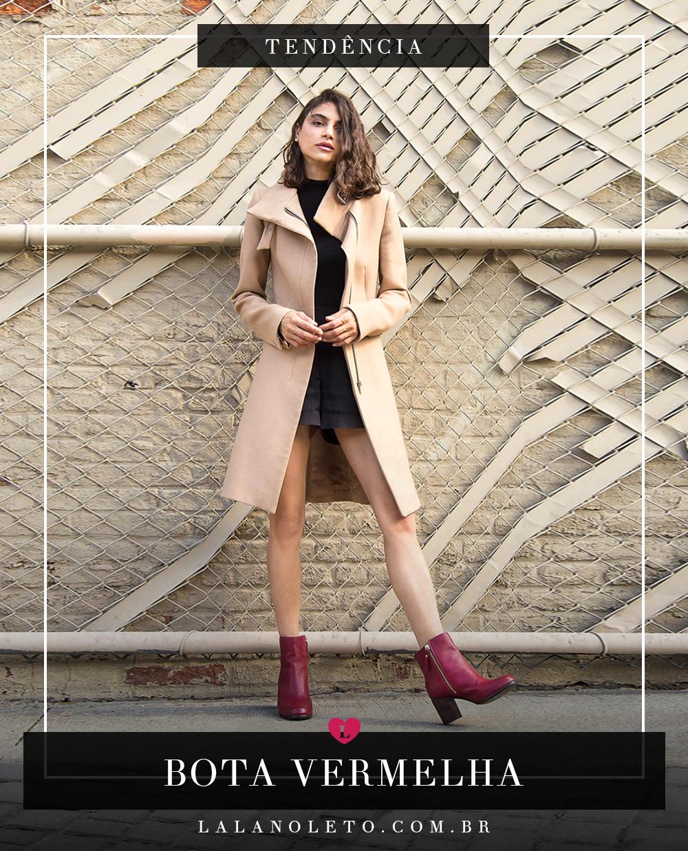 """179c3e9687 Tendência inverno 2018 – bota vermelha. Se tem uma coisa que as  fashionistas já estão """"a par"""" nesta altura do ano e que a bota vermelha é o  calçado mais hot ..."""
