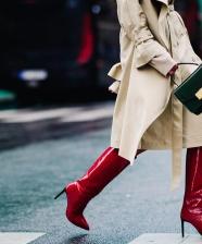 Tendência inverno 2018 – bota vermelha