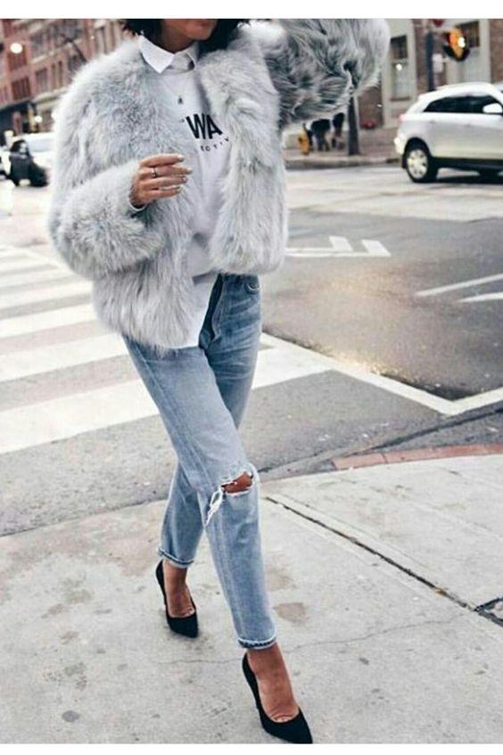 85ee092a526fe Furry coats - ideias de looks quentinhos e lindos - Lalá Noleto