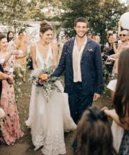 Muita inspiração boho no casamento da Laura Neiva com Chay Suede