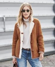 Ideias de looks com jaquetas Shearling