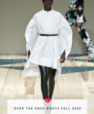 Tendência HOT das fashion weeks fall 2020: botas over the knee